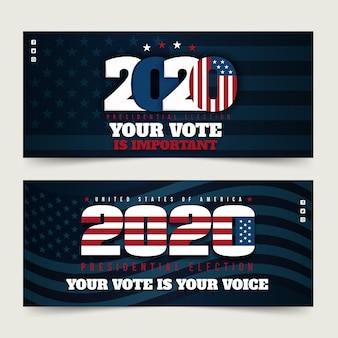 2020 uns präsidentschaftswahl banner