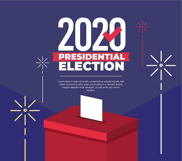 2020 uns präsidentschaftswahl design