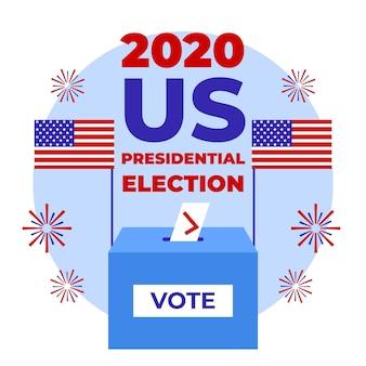 2020 uns präsidentschaftswahl stimmzettel in box