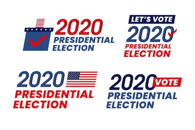 2020 uns präsidentschaftswahlen - logos