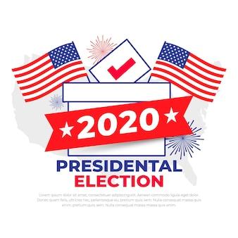 2020 uns präsidentschaftswahlkonzept