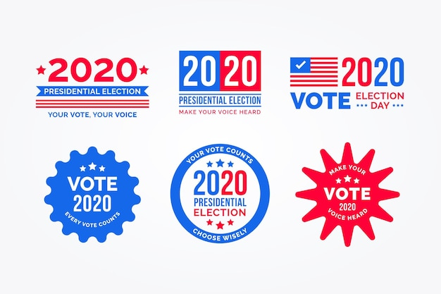 2020 us präsidentschaftswahl logo sammlung
