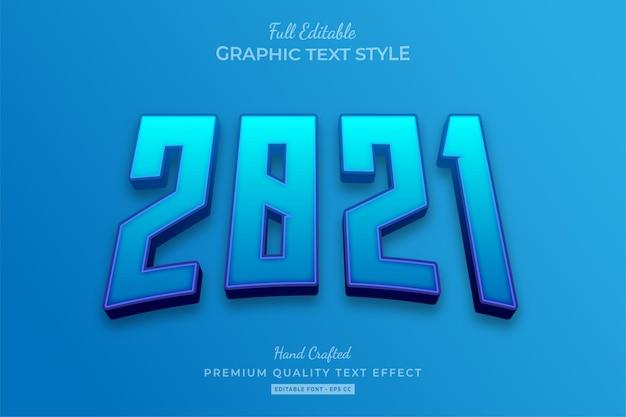 2021 blau bearbeitbarer texteffekt-schriftstil