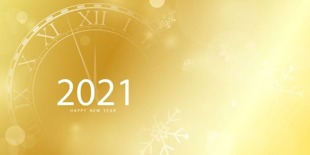 2021 frohes neues jahr gold hintergrund und weihnachten themenorientierte feier party banner Premium Vektoren
