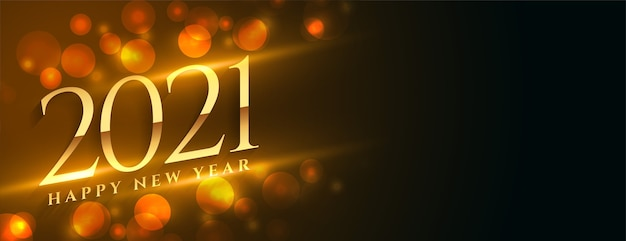 2021 frohes neues jahr goldenes banner mit textraum
