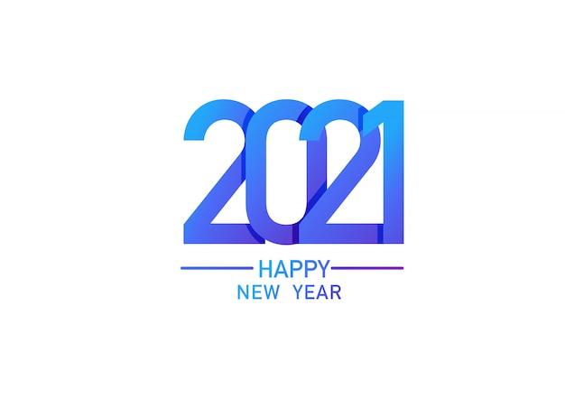 2021 frohes neues jahr text design vorlage