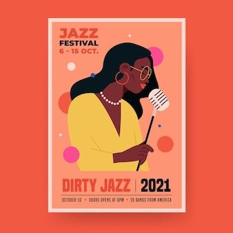 2021 illustriertes musikereignisplakat Kostenlosen Vektoren