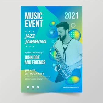 2021 musikereignisplakat mit foto