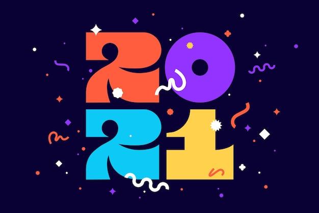 2021 neujahr illustration vorlage