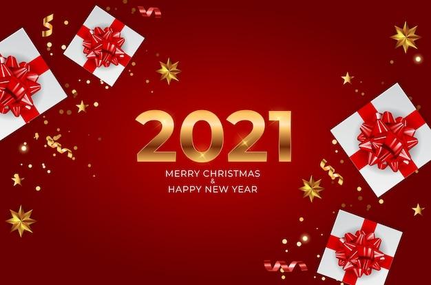2021 neujahr und frohe weihnachten hintergrund.