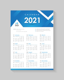 2021 neujahrs wandkalender design