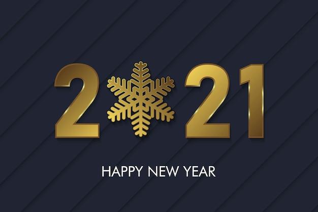 2021 neujahrshintergrund mit goldenen zahlen