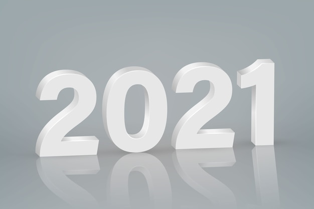 2021 neujahrssymbol auf szenenhintergrund.