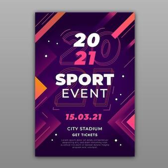 2021 sportereignisplakat