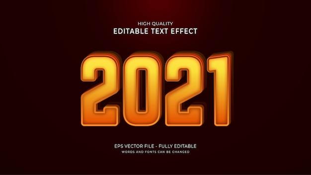 2021 texteffekt, bearbeitbarer grafischer textstileffekt