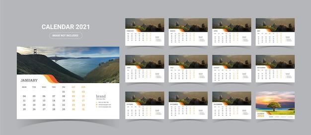 2021 tischkalender illustration