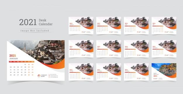 2021 tischkalender, wochenbeginn am montag.