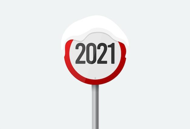 2021 verkehrszeichenart flaches symbolillustrationszeichen isoliert