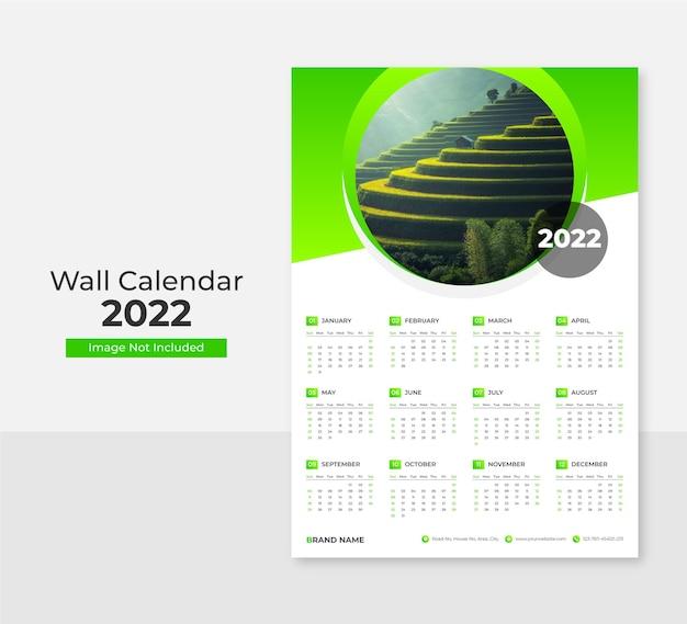 2021 wand moderne druckwandkalendervorlage premium vektor