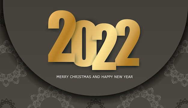 2022 broschüre frohe weihnachten braune farbe luxus licht ornament