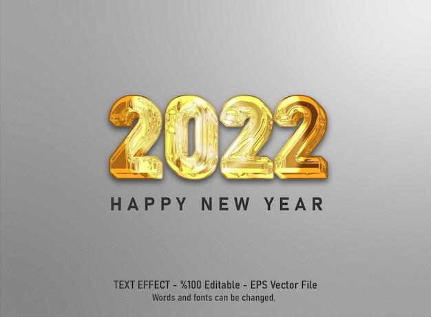 2022 frohes neues jahr bearbeitbarer texteffekt