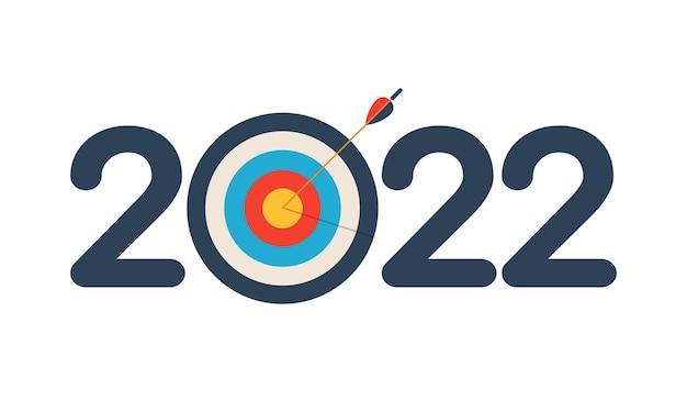 2022 frohes neues jahr das konzept des erreichten ziels im neuen jahr