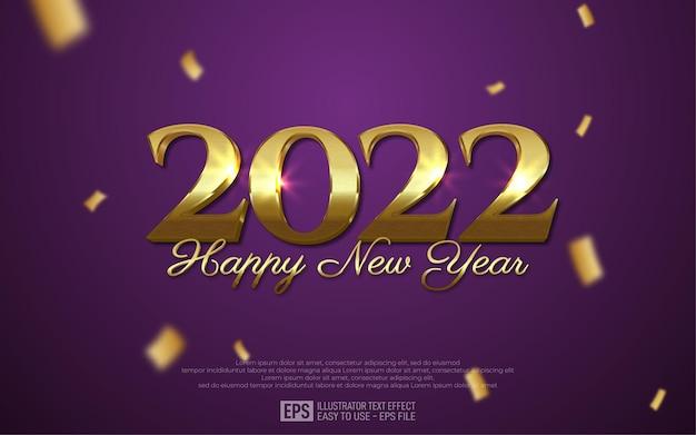 2022 frohes neues jahr grußkarte mit goldenen zahlen