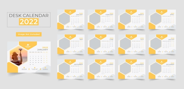 2022 schreibtisch kalendervorlage für das neue jahr