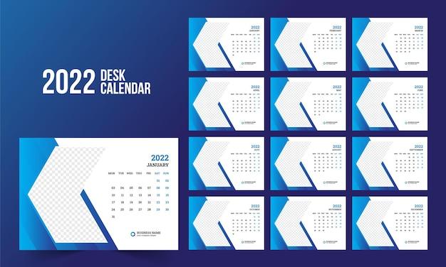 2022 tischkalendervorlage