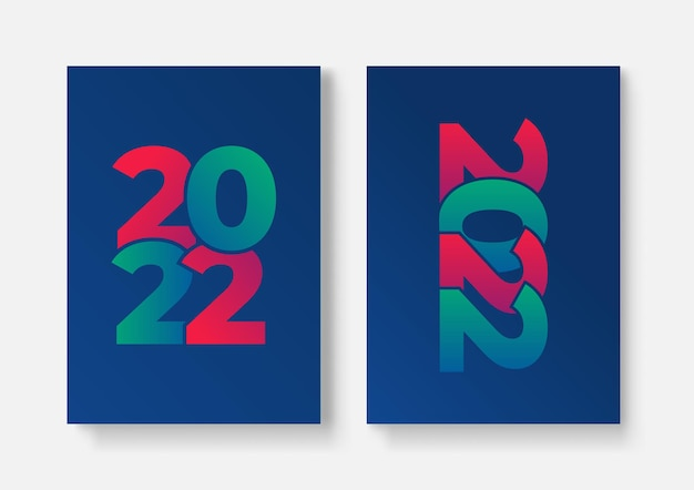 2022-vorlagendesign mit kopienraum. starke typografie. bunt und leicht zu merken. design für branding, präsentation, portfolio, business, bildung, banner. vektor, abbildung