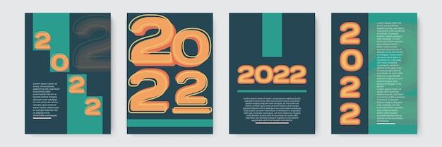 2022 vorlagendesign starke typografie bunt und leicht zu merken design für branding-präsentatio...