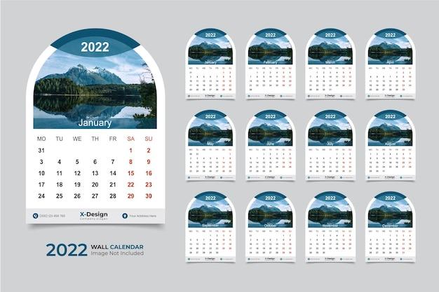 2022 wandkalender vorlage