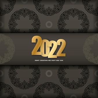 2022 weihnachtskarte frohe weihnachten braune farbe luxus licht ornament