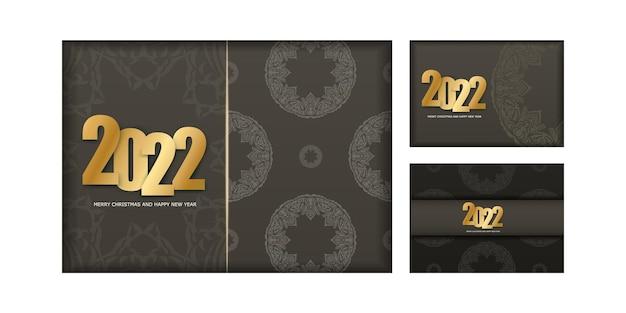2022 weihnachtskarte frohe weihnachten braune farbe mit vintage light ornament