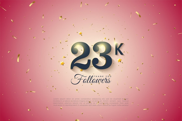 23.000 follower mit einfacher designnummer