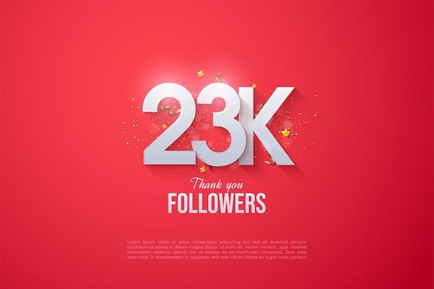 23.000 follower mit flachen zahlen