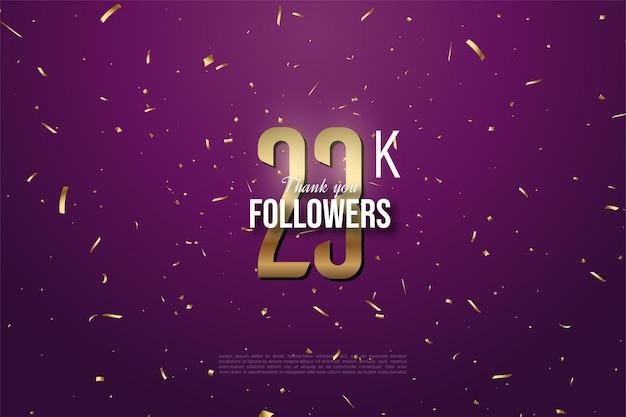 23.000 follower mit goldenen zahlen