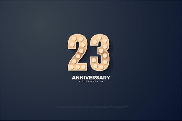 23. jubiläum mit einzigartiger zahlenillustration