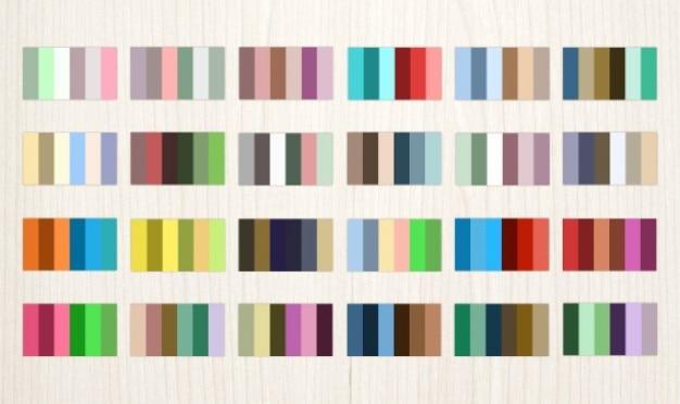 24 komplementären farbpaletten