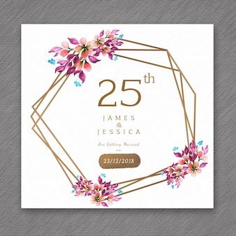 25 aquarell hochzeitstag floral frame designs