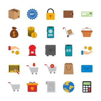 25 e-commerce-symbole