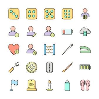 25 icon set universal für den persönlichen und kommerziellen gebrauch ... Premium Vektoren