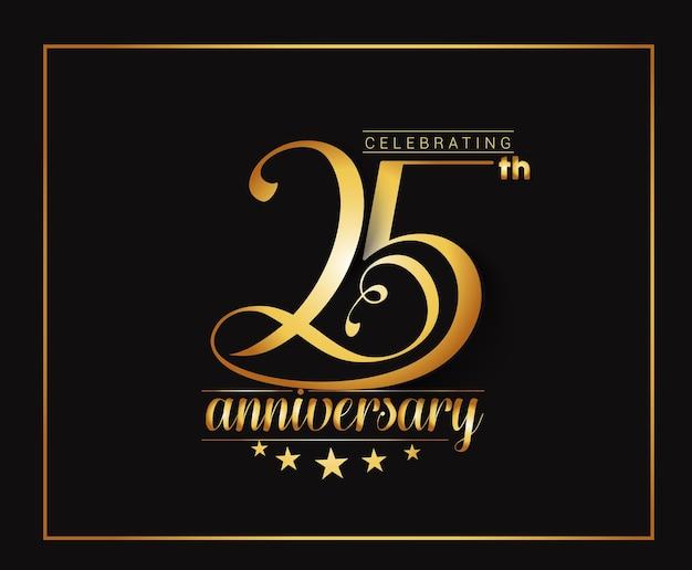 25-jähriges jubiläums-feier-design.