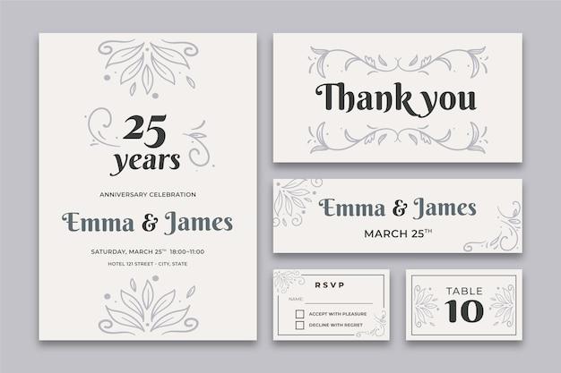 25 jahre jubiläum briefpapier sammlung