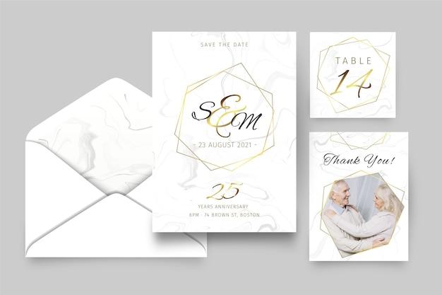 25 jahre jubiläumsbriefpapier-sammlung