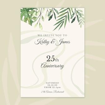 25 jahre jubiläumskartenvorlage
