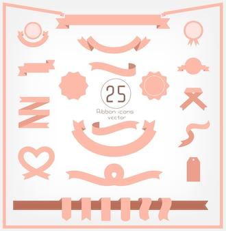 25 rosa vintage band und etikett
