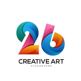 26 logo buntes farbverlaufsdesign