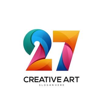 27 logo buntes farbverlaufsdesign
