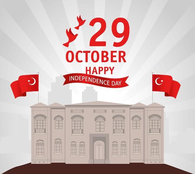 29. oktober republik tag türkei mit der großen versammlung